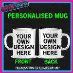 PERSONALISED VALENTINE'S GIFT HIM OR HER MUG DESIGN ADD OWN TEXT & PICTURE